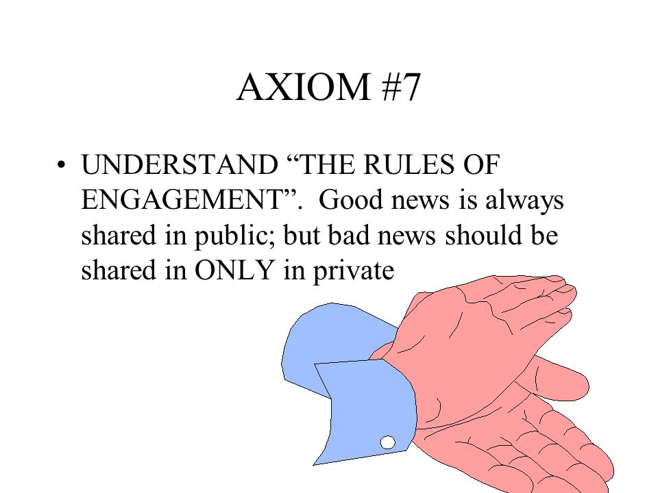 AXIOM #5 The military leader is there for three years or less, the civilian leader is there for years.