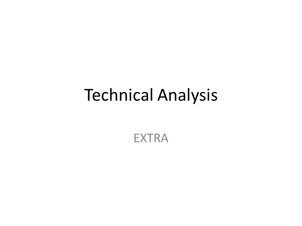 Technical Analysis EXTRA