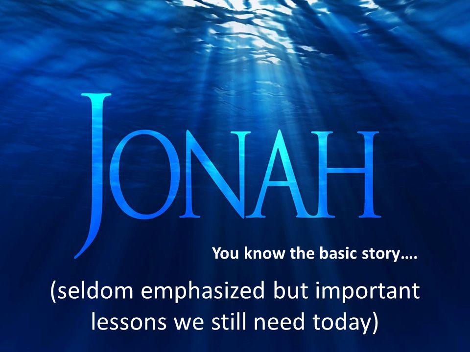 (seldom emphasized but important lessons we still need today) You know the basic story….