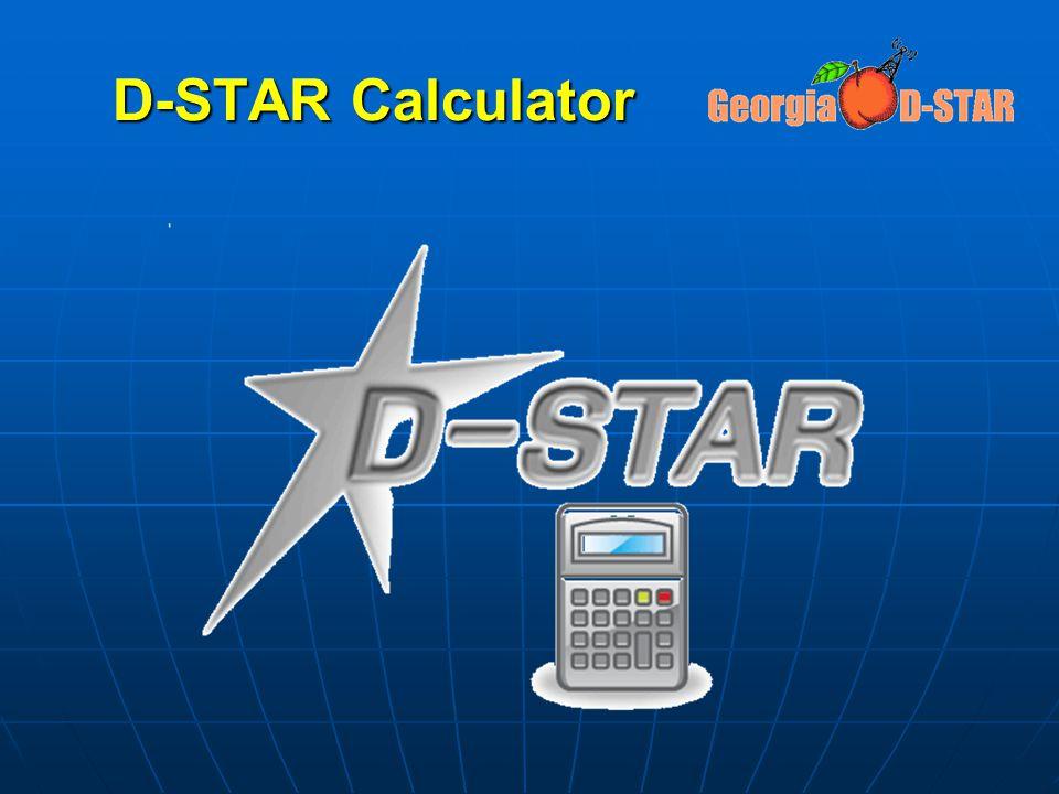 D-STAR Calculator