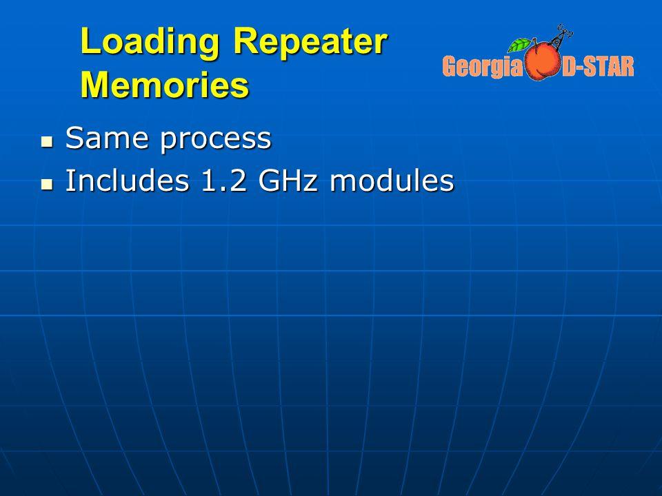 Loading Repeater Memories Same process Same process Includes 1.2 GHz modules Includes 1.2 GHz modules