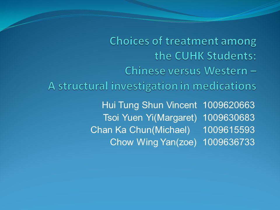 Hui Tung Shun Vincent 1009620663 Tsoi Yuen Yi(Margaret) 1009630683 Chan Ka Chun(Michael)1009615593 Chow Wing Yan(zoe) 1009636733