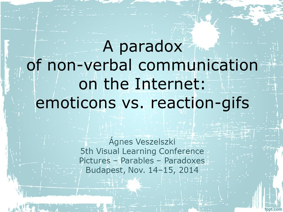A paradox of non-verbal communication on the Internet: emoticons vs.