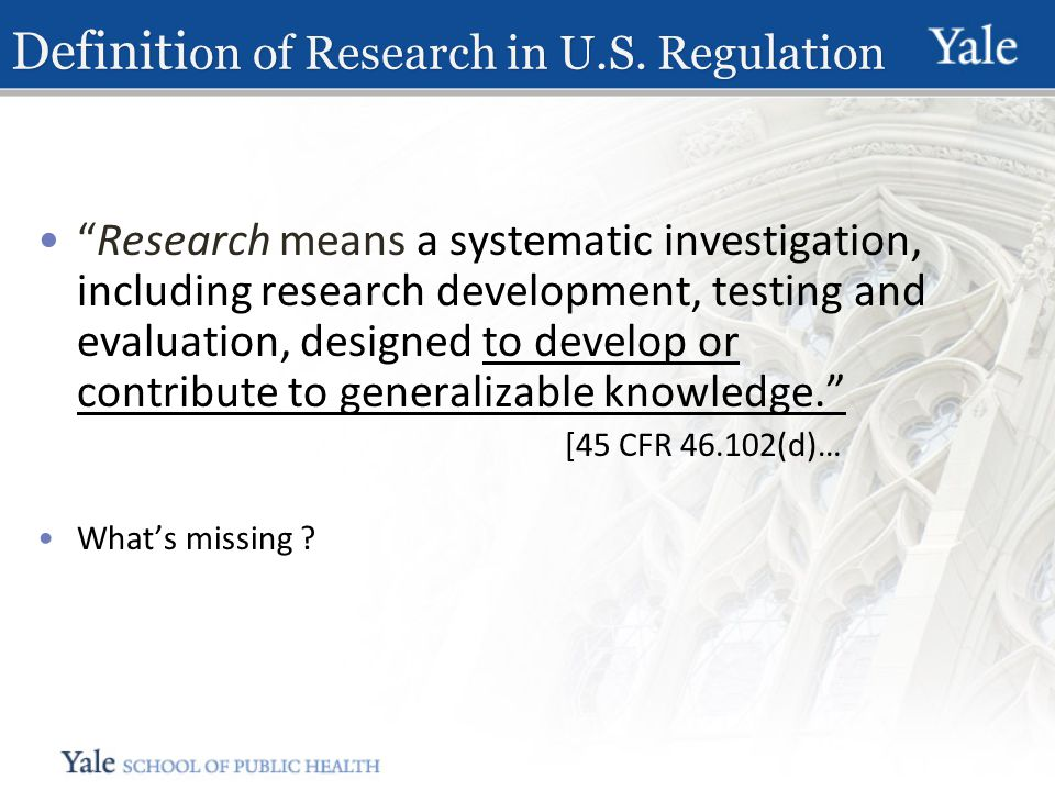 Definiti on of Research in U.S.