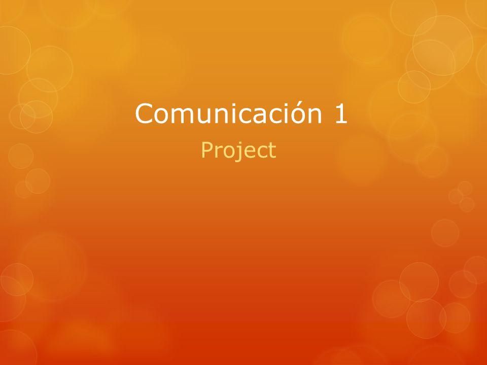Comunicación 1 Project