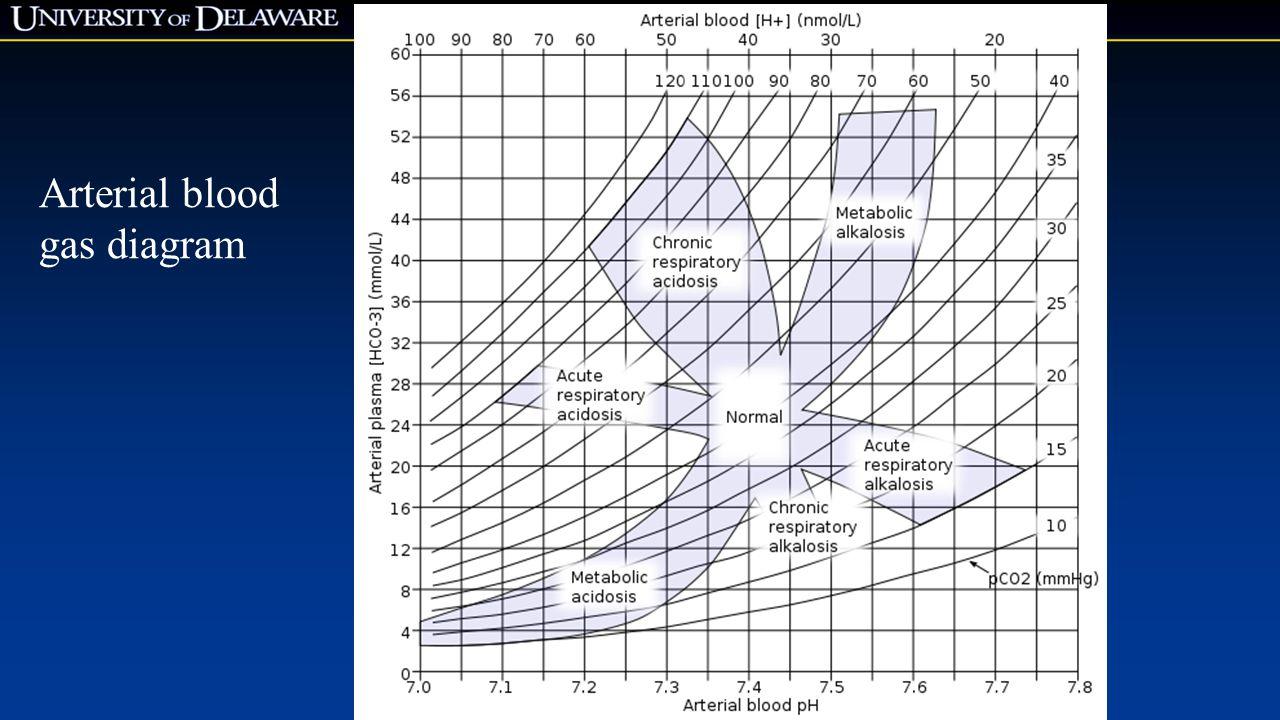 Arterial blood gas diagram