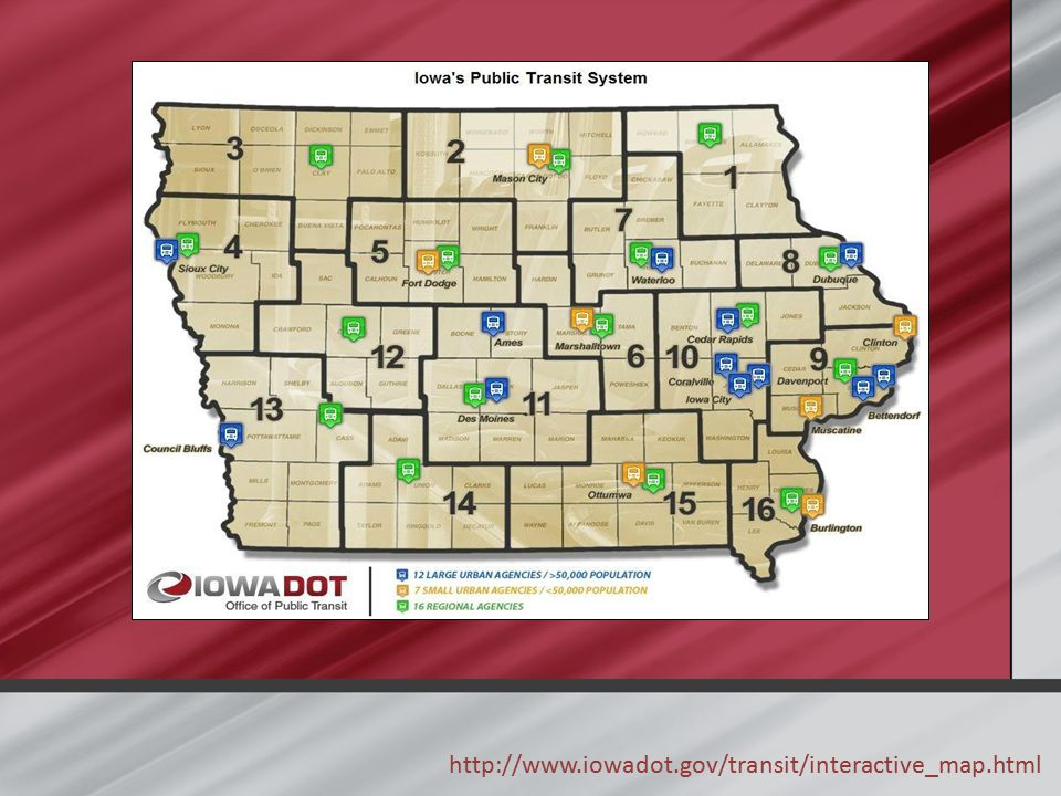 http://www.iowadot.gov/transit/interactive_map.html