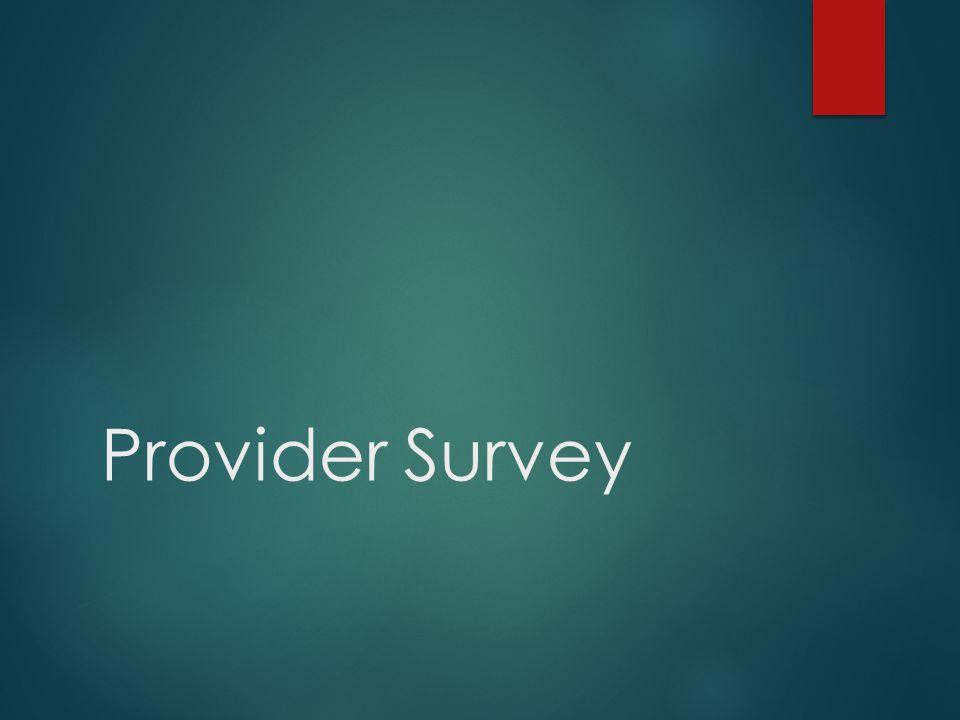 Provider Survey