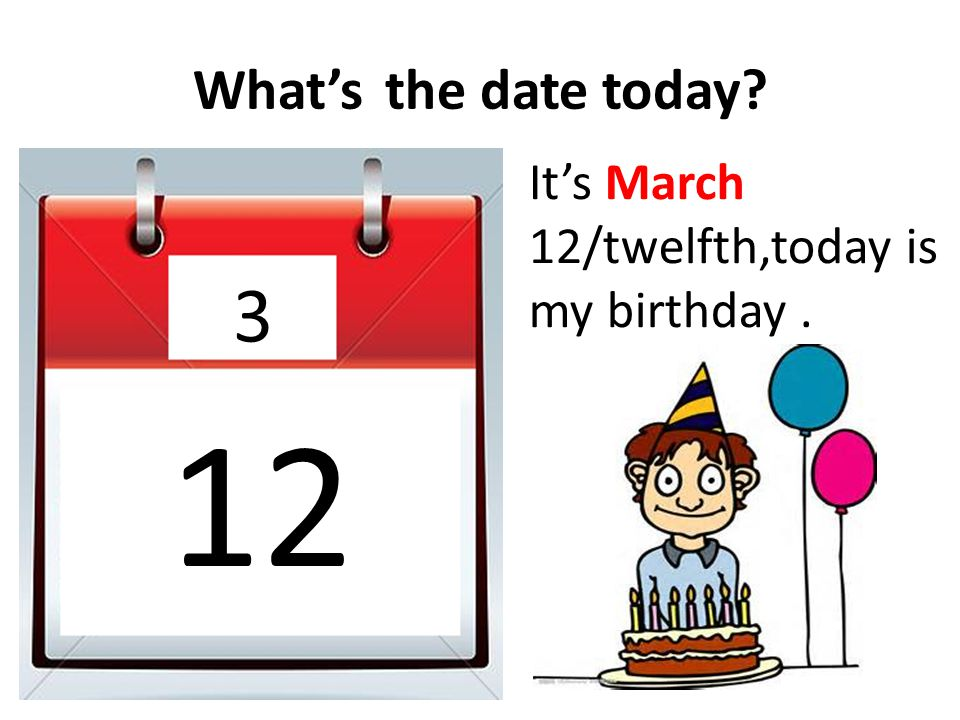 What'sthe date today? 2 28 It's January 28/twenty- eighth.