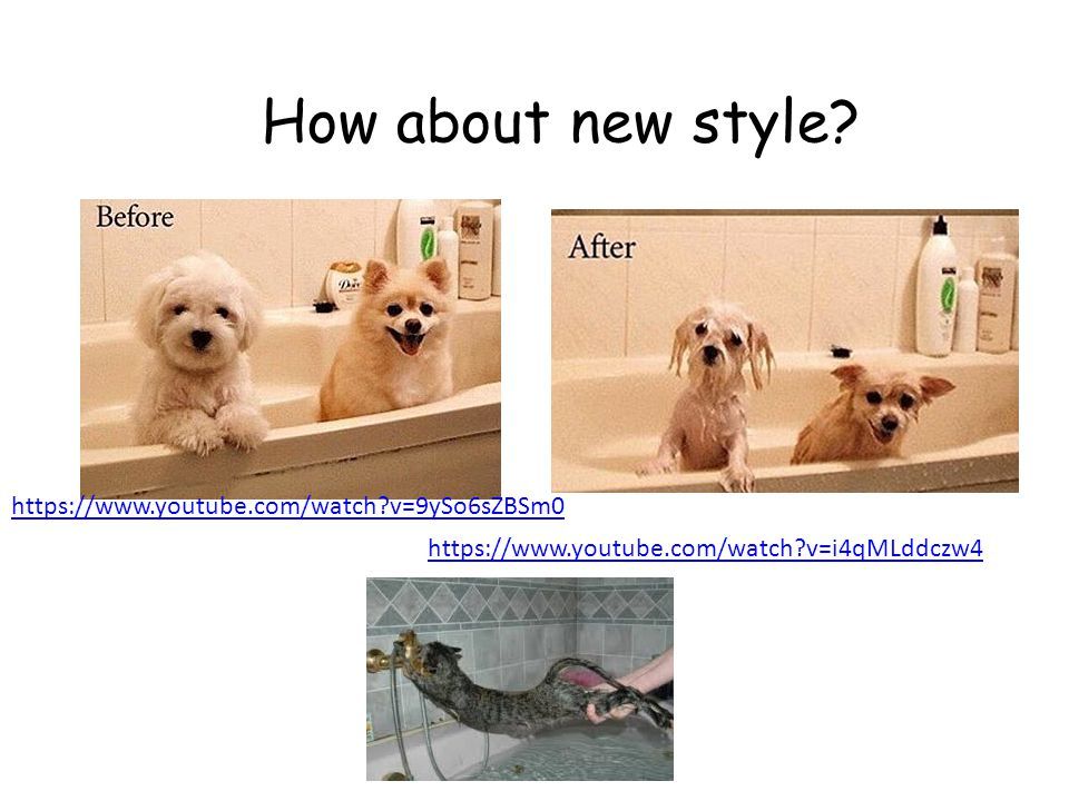 What's different ? take a shower take a bath