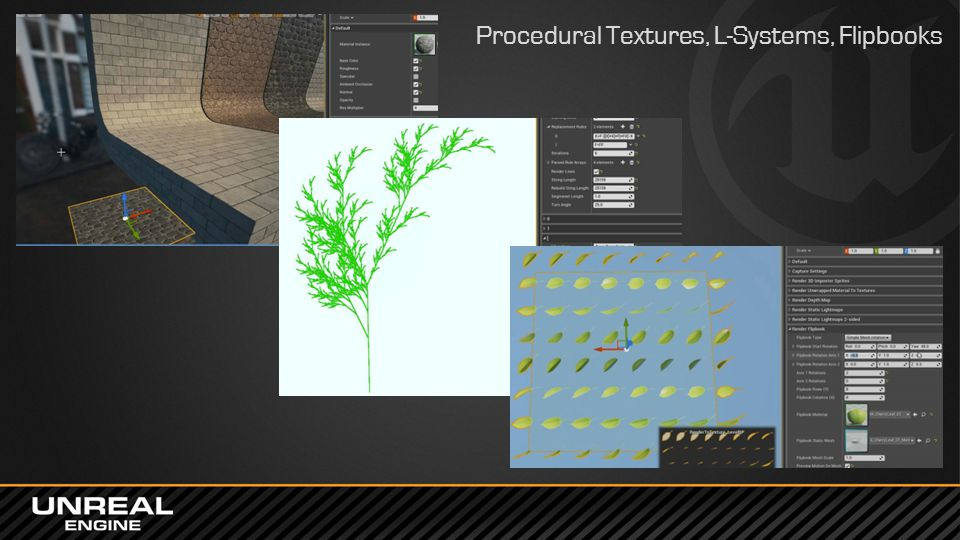 Procedural Textures, L-Systems, Flipbooks