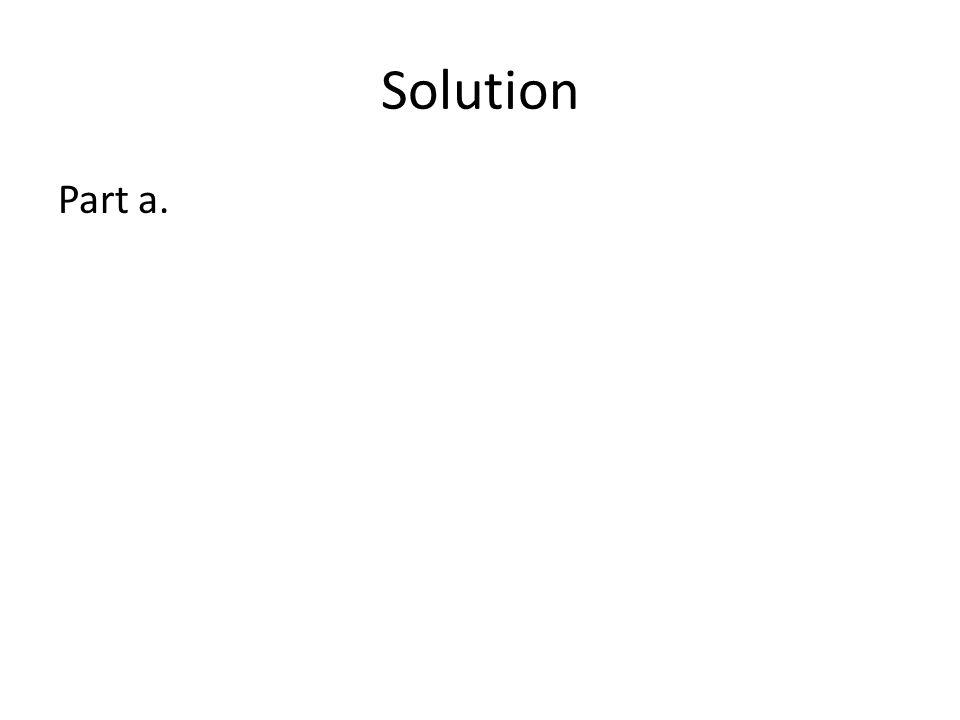 Solution Part a.