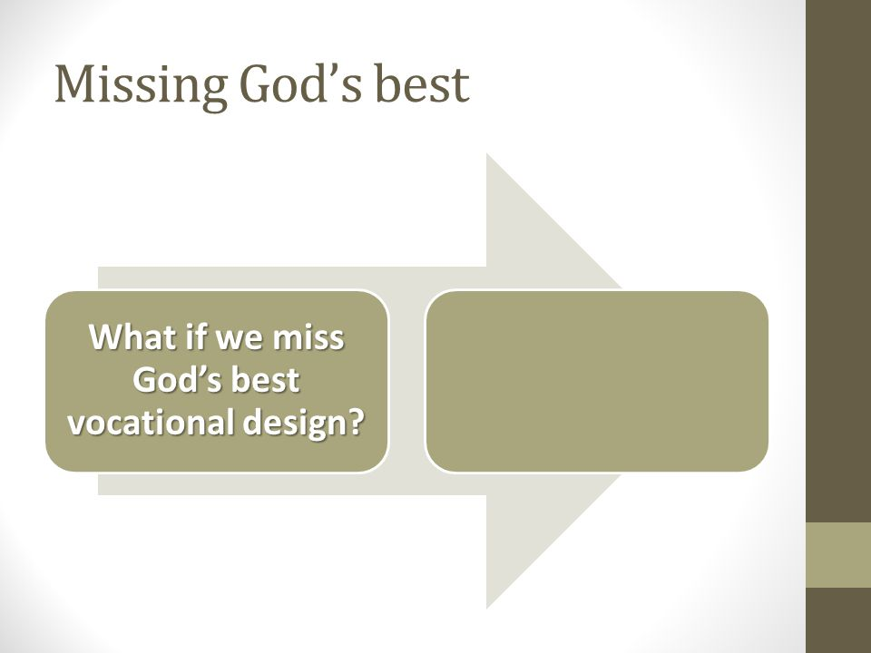 Missing God's best