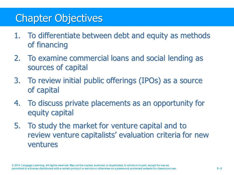 Chapter Objectives © 2014 Cengage Learning. All rights reserved.