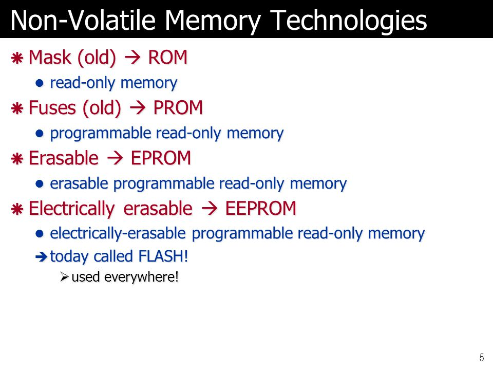 Random Access Memories  So called because it takes same amount of time to address any particular location Not entirely true for modern DRAMs, but somewhat true… Not entirely true for modern DRAMs, but somewhat true…  First look at asynchronous static RAM reading and writing typically controlled by handshakes reading and writing typically controlled by handshakes  clock may still be present, but actions controlled by handshake signals 16