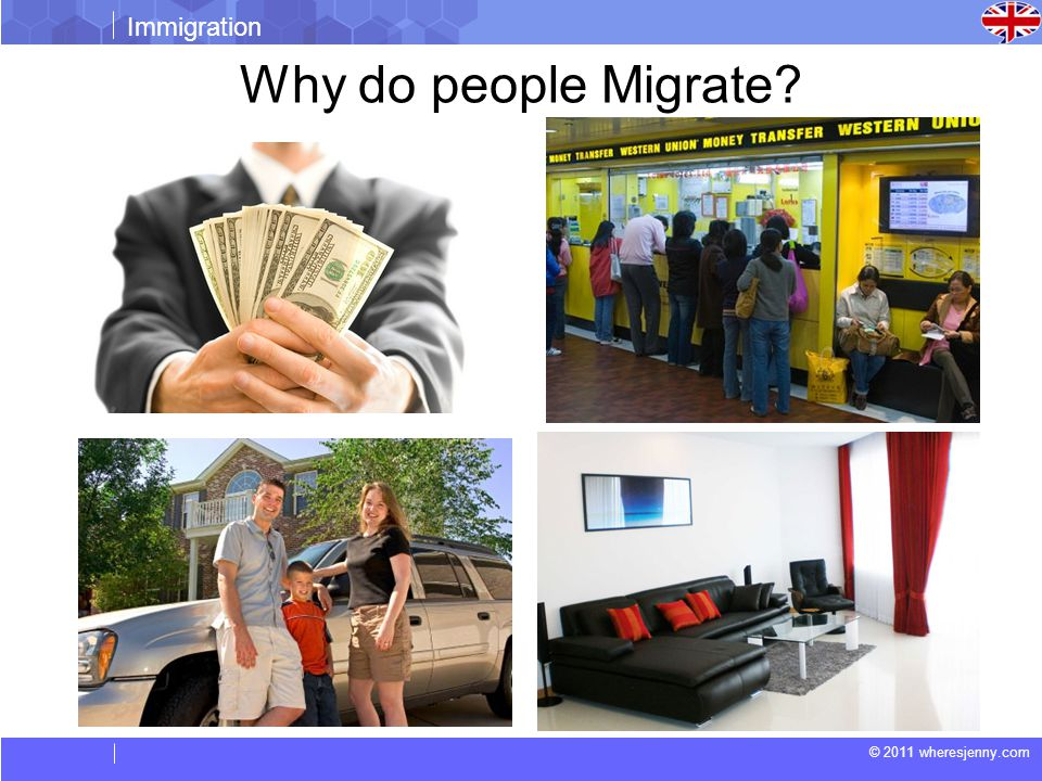 © 2011 wheresjenny.com Immigration Why do people Migrate?