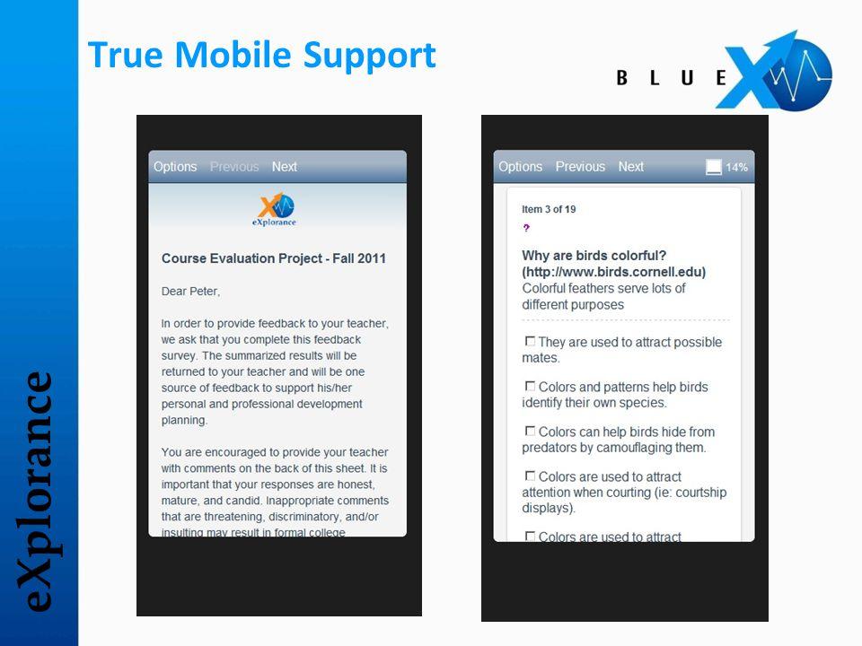 eXplorance True Mobile Support