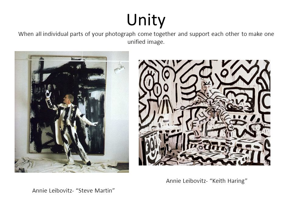 Unity When all individual parts of your photograph come together and support each other to make one unified image.