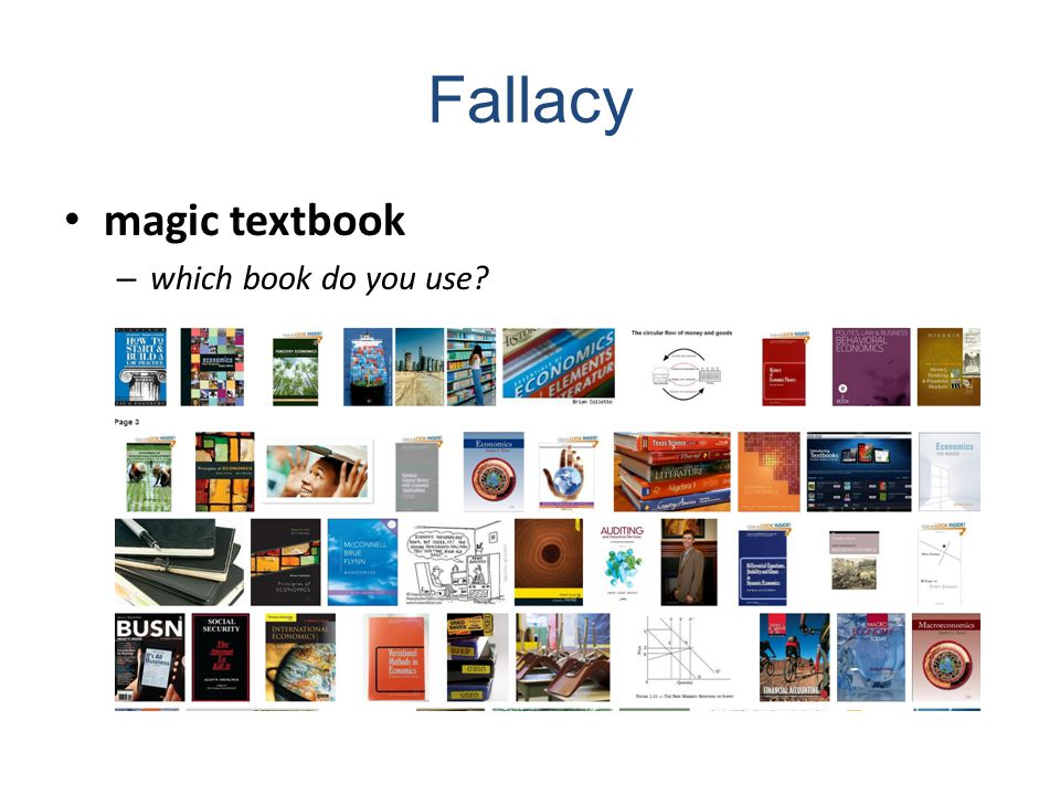 Fallacy magic textbook – which book do you use
