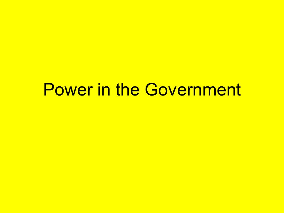 Power in Government Democratic Republicans – States are closer to the people and can make better decisions Federalists – Federal Gov.