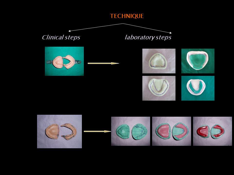 TECHNIQUE Clinical steps laboratory steps