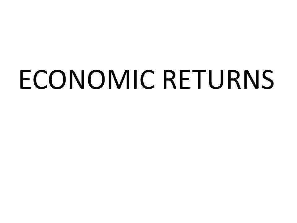 ECONOMIC RETURNS