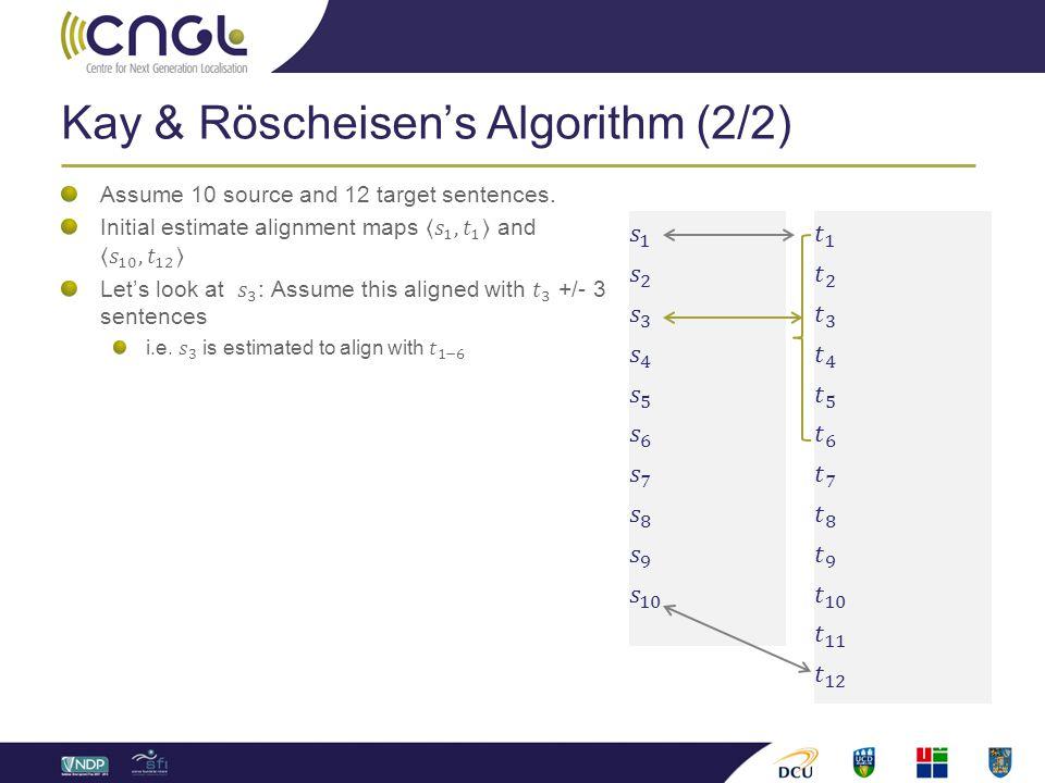 Kay & Röscheisen's Algorithm (2/2)
