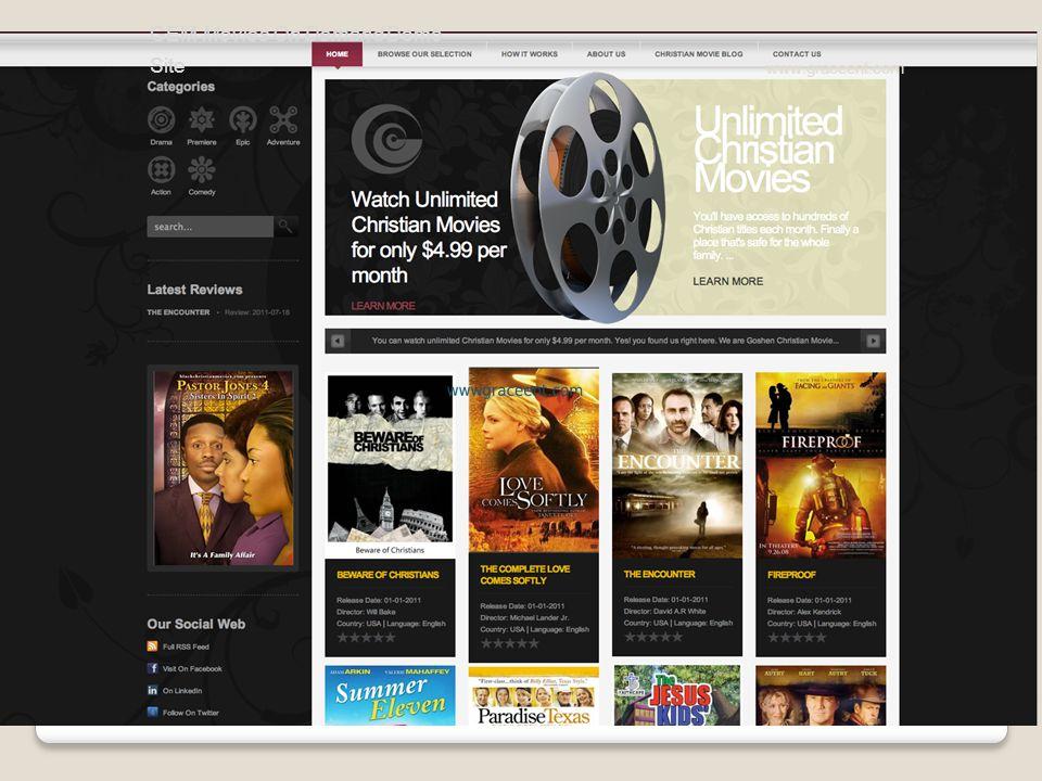 GEM Movies On Demand Demo Site www.graceent.com