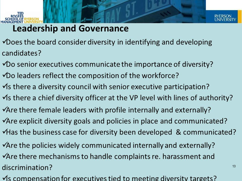 Does the board consider diversity in identifying and developing candidates.