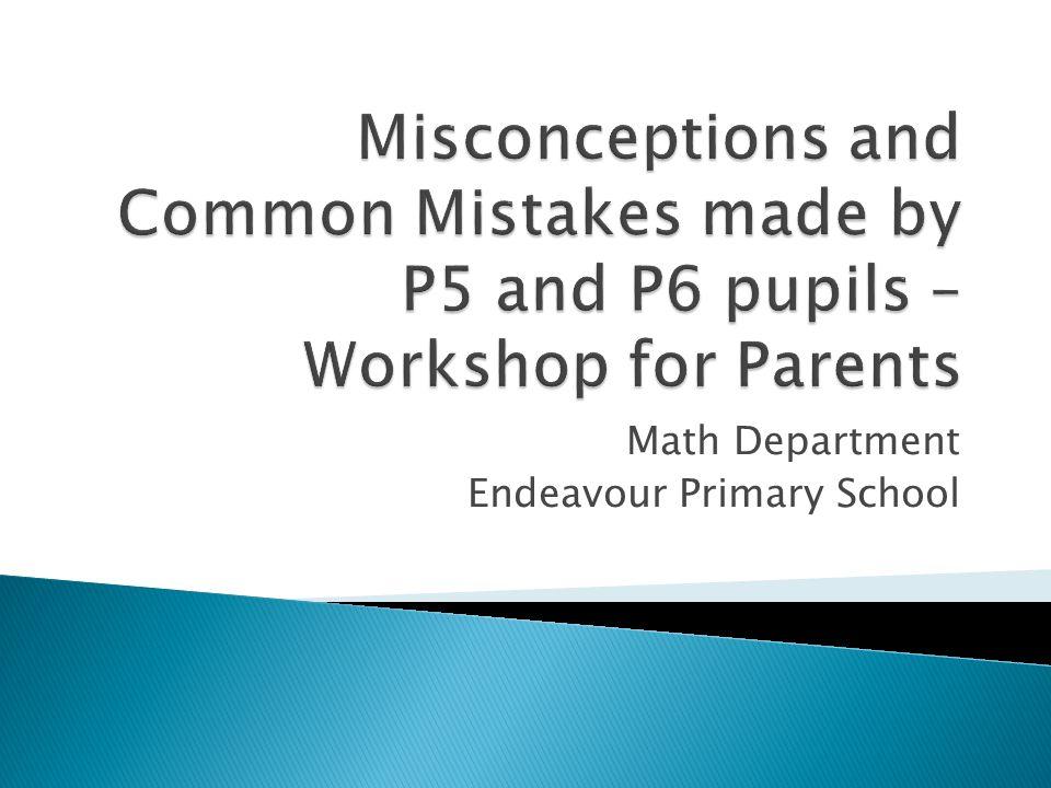 Math Department Endeavour Primary School