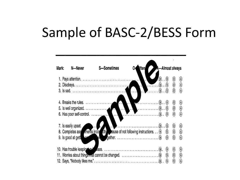 Sample of BASC-2/BESS Form