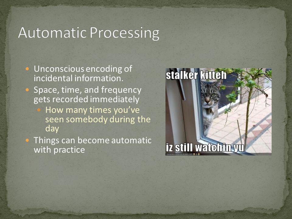 Unconscious encoding of incidental information.