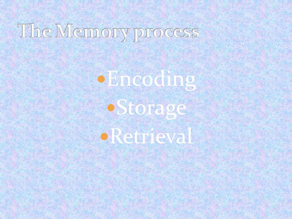 Encoding Storage Retrieval
