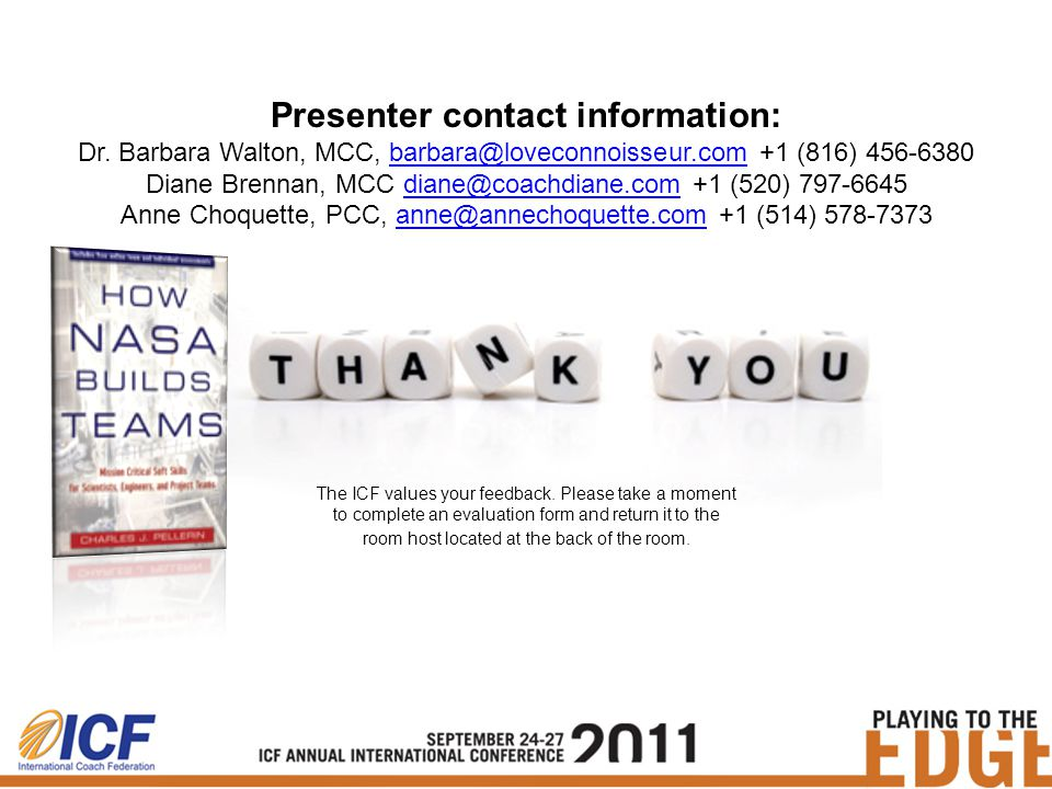 Presenter contact information: Dr.