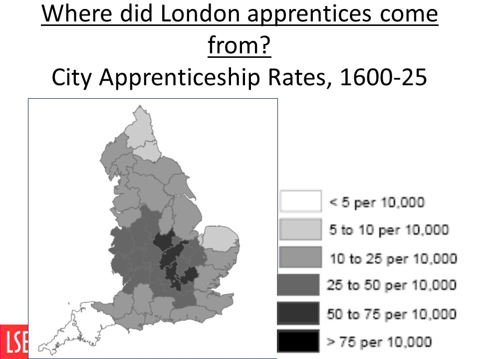 Where did London apprentices come from? City Apprenticeship Rates, 1600-25