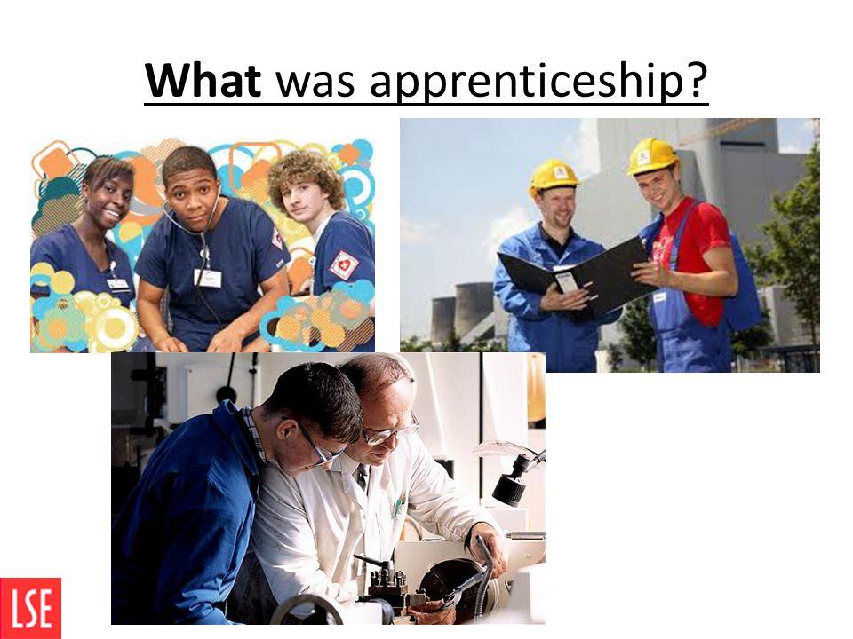What was apprenticeship?