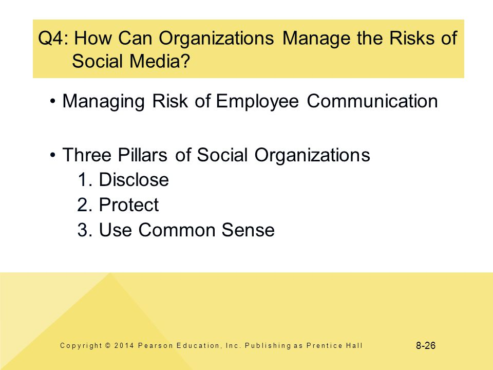 8-26 Q4: How Can Organizations Manage the Risks of Social Media.