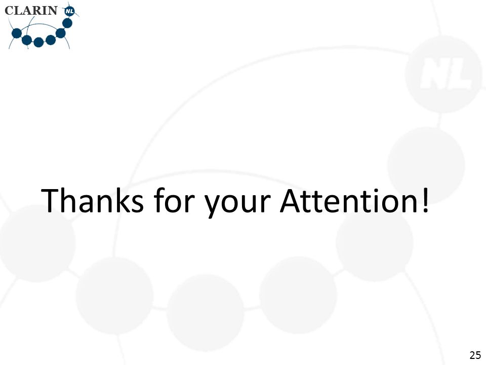 Thanks for your Attention! 25