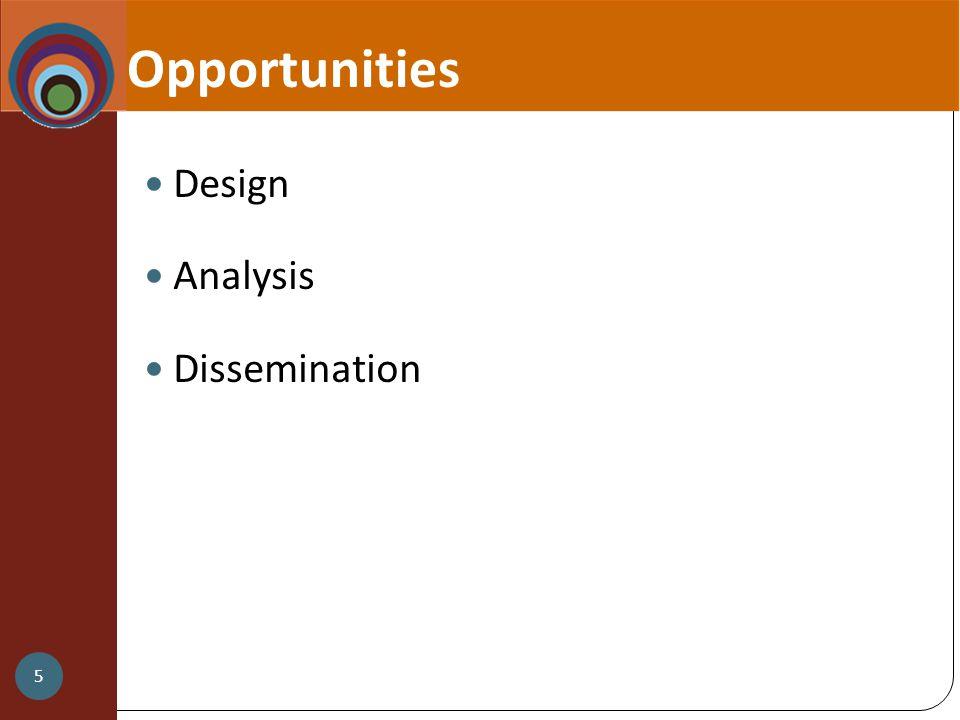 Opportunities Design Analysis Dissemination 5