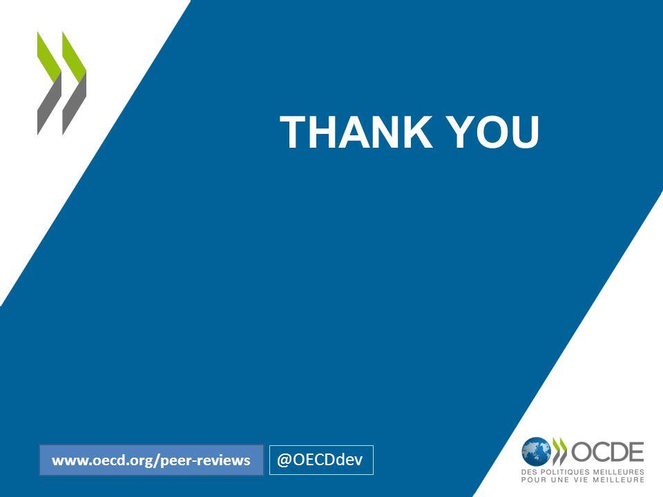 THANK YOU @OECDdev www.oecd.org/peer-reviews