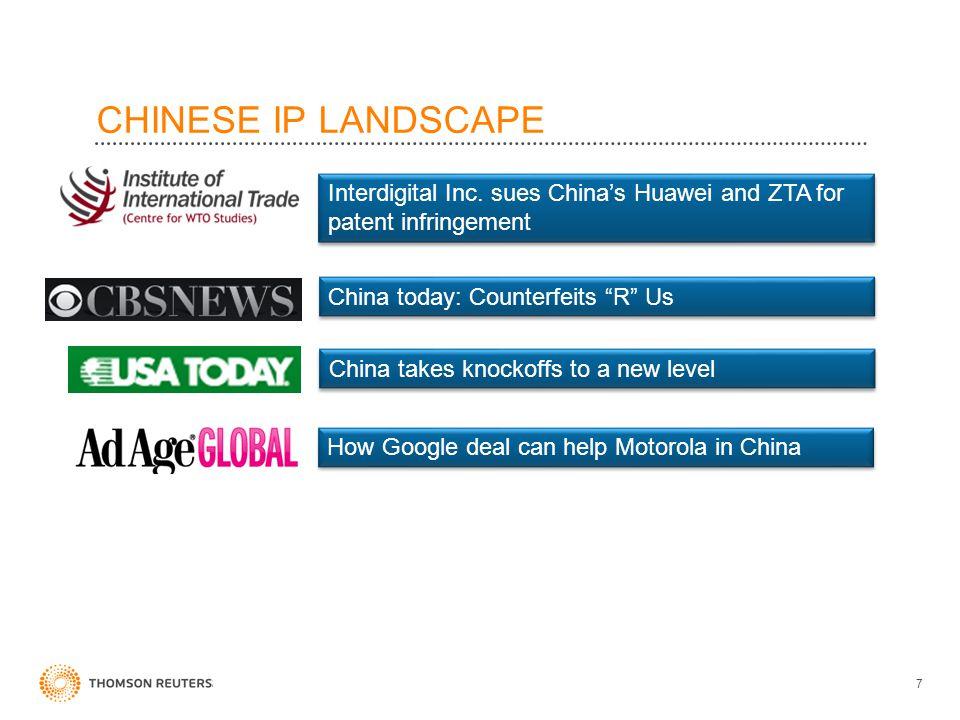 CHINESE IP LANDSCAPE 7 Interdigital Inc.