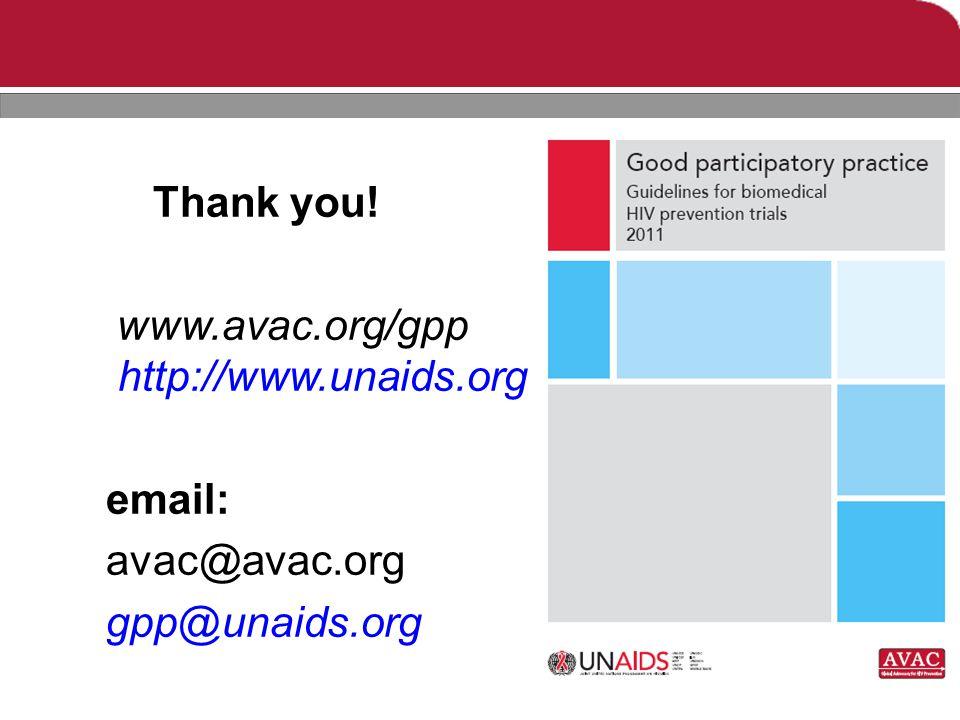 Thank you! www.avac.org/gpp http://www.unaids.org email: avac@avac.org gpp@unaids.org