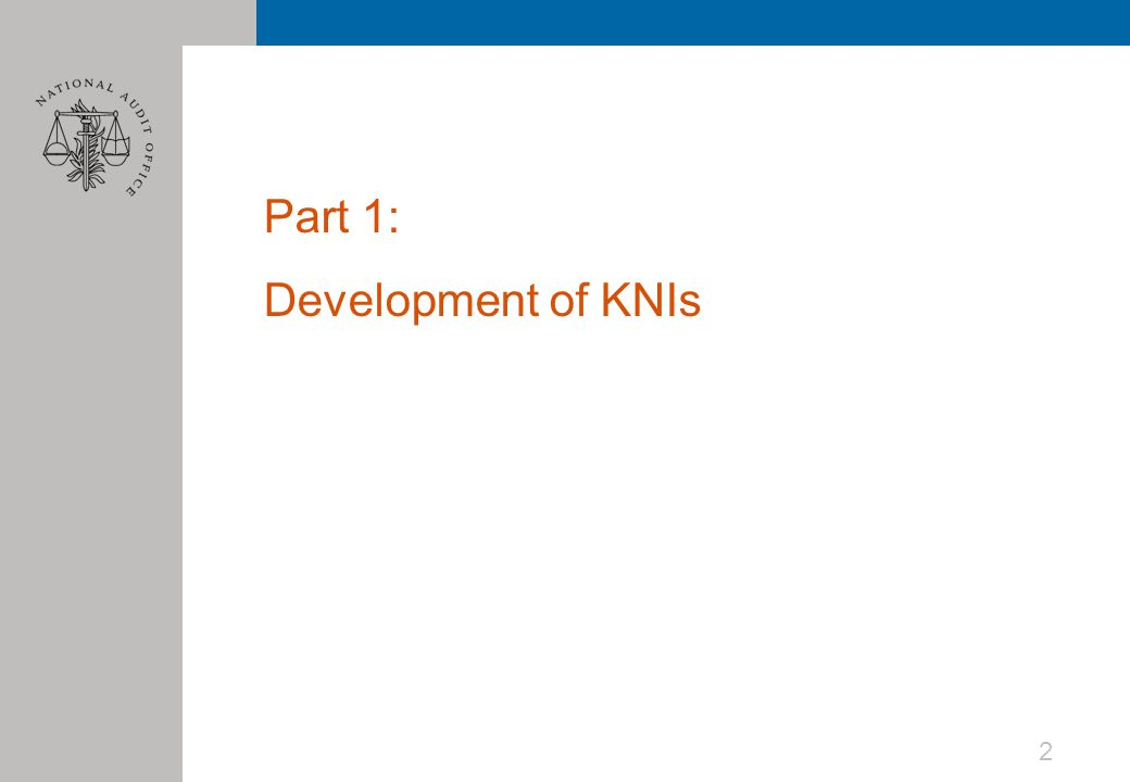 Part 1: Development of KNIs 2
