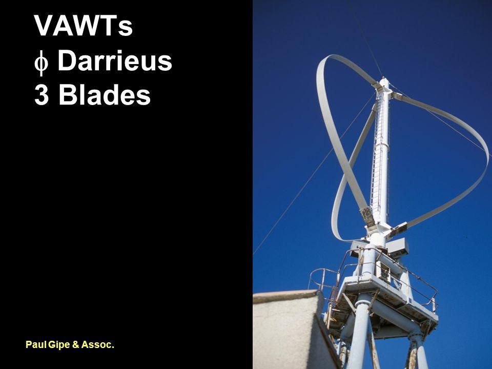 VAWTs  Darrieus 3 Blades Paul Gipe & Assoc.
