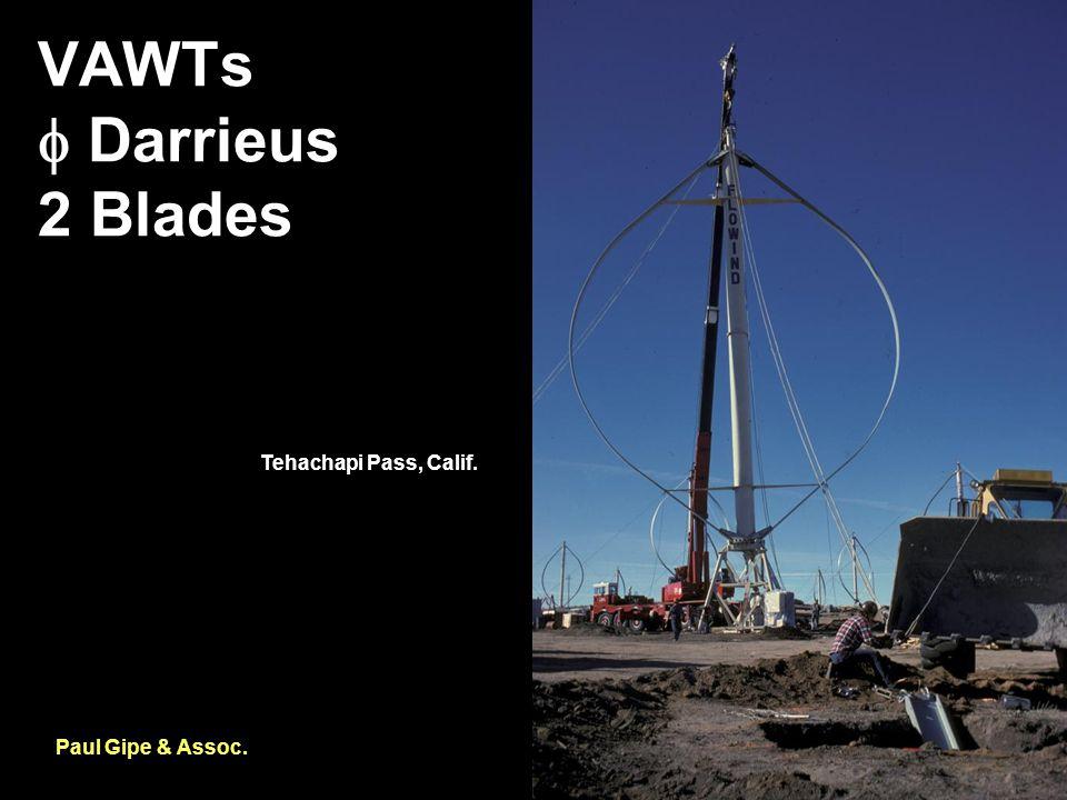 VAWTs  Darrieus 2 Blades Paul Gipe & Assoc. Tehachapi Pass, Calif.