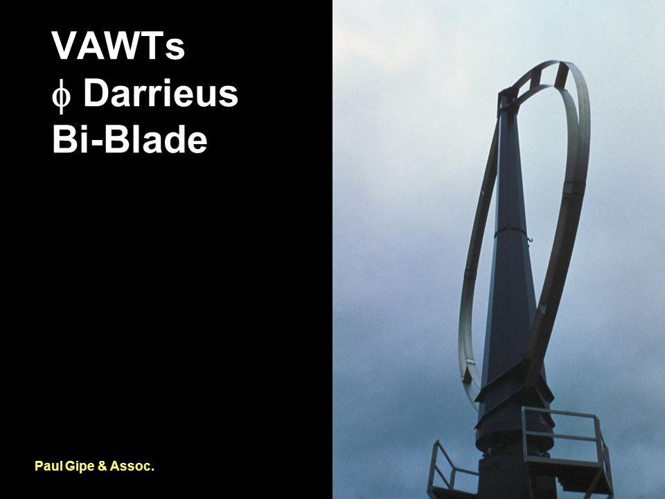 VAWTs  Darrieus Bi-Blade Paul Gipe & Assoc.