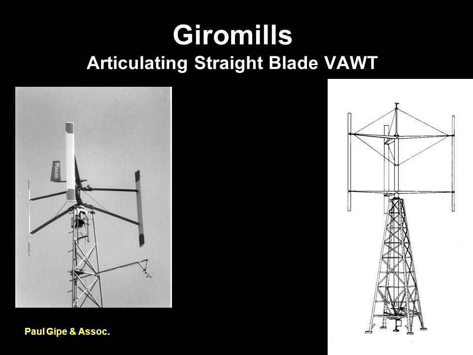 Giromills Articulating Straight Blade VAWT Paul Gipe & Assoc.