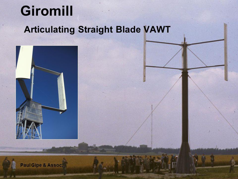 Giromill Articulating Straight Blade VAWT Paul Gipe & Assoc.