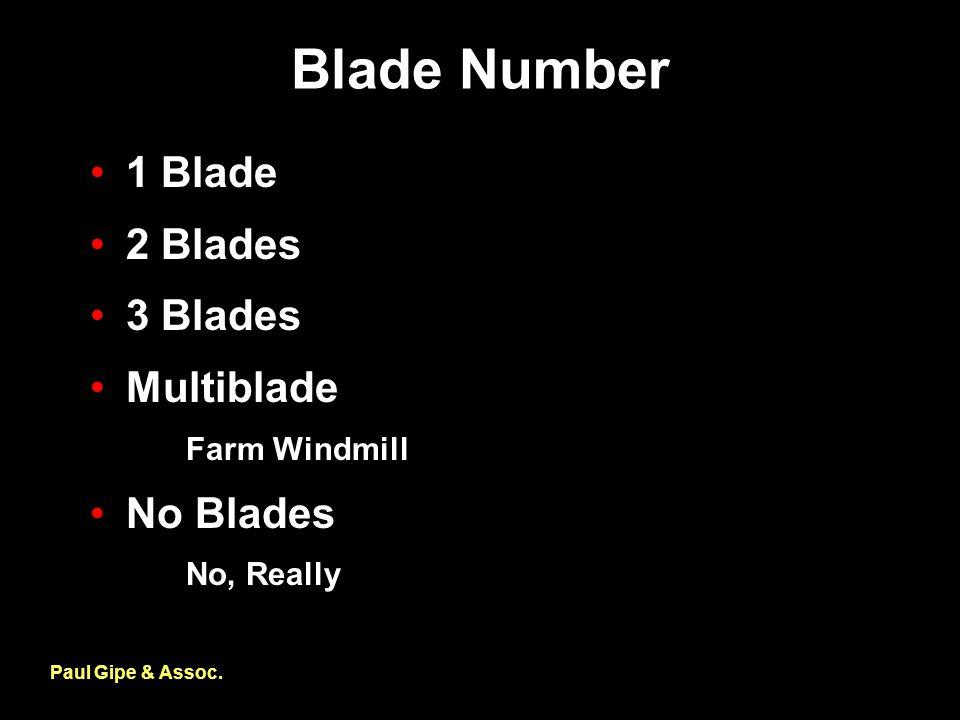 Blade Number Paul Gipe & Assoc.