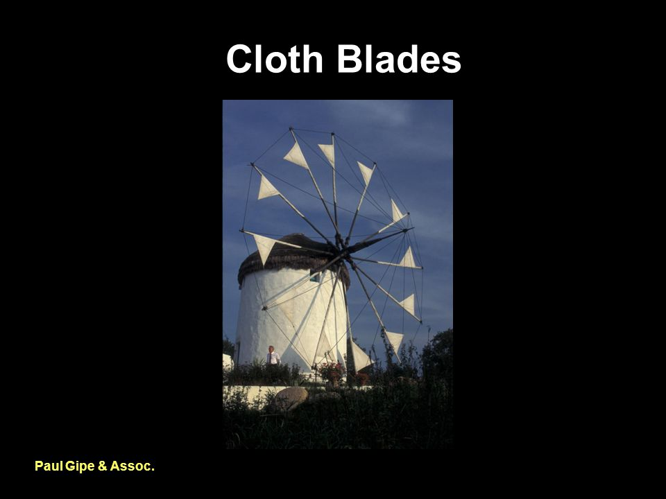 Cloth Blades Paul Gipe & Assoc.